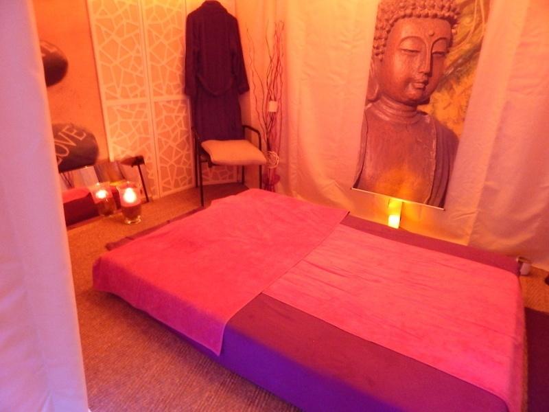 espace de massage sur futon à Montreux
